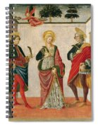 Saint Cecilia Between Saint Valerian And Saint Tiburtius With A Donor Spiral Notebook