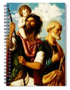 Saint Christopher With Saint Peter Spiral Notebook