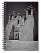 Saint Francis In Black And White Spiral Notebook