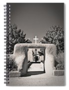 Saint Francis In Sepia Gold Spiral Notebook