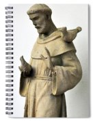 Saint Francis Of Assisi Statue With Birds Spiral Notebook