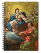Saint James Being Visited By The Virgin Spiral Notebook