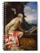Saint Jerome In The Wilderness Spiral Notebook