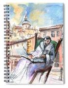 Saint John Of The Cross In Salamanca Spiral Notebook