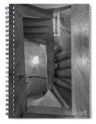 Saint John The Divine Spiral Stairs Bw Spiral Notebook