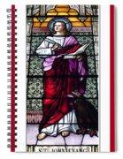 Saint John The Evangelist Stained Glass Window Spiral Notebook