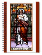 Saint Joseph  Stained Glass Window Spiral Notebook