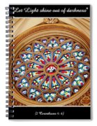 Saint Josephs Cathedral Stained Glass Window Buffalo New York Spiral Notebook