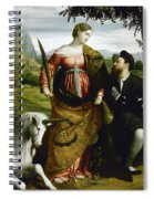 Saint Justina With The Unicorn Spiral Notebook