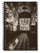Saint Louis Cathedral New Orleans Black And White Spiral Notebook
