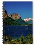 Saint Mary Lake And Wild Goose Island Spiral Notebook