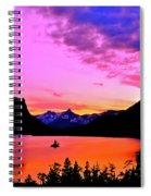 Saint Mary Lake Twilight Spiral Notebook