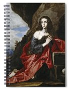 Saint Mary Magdalene In The Desert Spiral Notebook