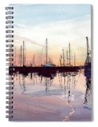Saint Marys Marina   Shadows Light And Fire Spiral Notebook