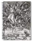 Saint Michael And The Dragon Spiral Notebook