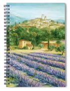Saint Paul De Vence And Lavender Spiral Notebook