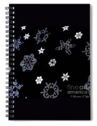 Saks 5th Avenue Snowflakes Spiral Notebook