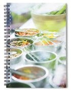Salad Bowls With Mixed Fresh Vegetables Spiral Notebook