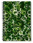 Salad Geometric Circle Segment Pattern Spiral Notebook