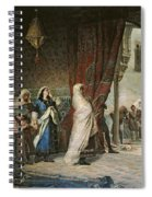 Salida Del Boabdil, At The Alhambra Oil On Canvas Spiral Notebook