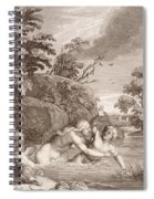 Salmacis And Hemaphroditus United In One Body Spiral Notebook