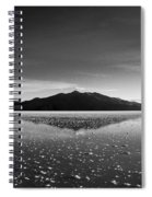 Salt Cloud Reflection Black And White Spiral Notebook