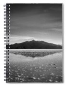 Salt Cloud Reflection Black And White Select Focus Spiral Notebook