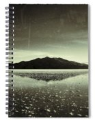 Salt Cloud Reflection Black And White Vintage Spiral Notebook