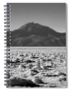 Salt Flat Surface Black And White Spiral Notebook
