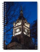 Salt Lake City And County Building At Night Spiral Notebook