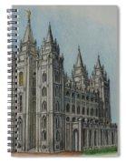 Salt Lake City Temple I Spiral Notebook