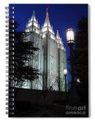 Salt Lake Mormon Temple At Night Spiral Notebook