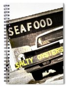 Salty Oysters - Textured Spiral Notebook