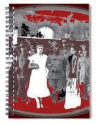 Saluting With Sabers Military Ceremony Unknown Location Or Date-2014 Spiral Notebook