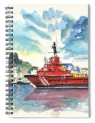Salvage Ship In Cartagena Spiral Notebook