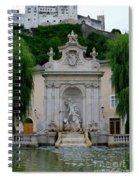 Salzburg Castle With Fountain Spiral Notebook