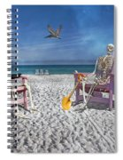 Sam And His Friend Visit Long Boat Key Spiral Notebook