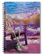 A-loon On The Beach  Spiral Notebook