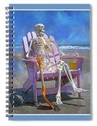 Sam Enjoys The Beach -- Again Spiral Notebook