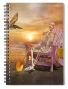 Sam Is Tickled With A Visiting Pelican Spiral Notebook