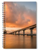 Samoa Bridge At Sunset Spiral Notebook