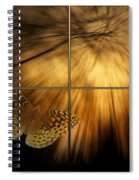 Sample Paneled Following The Light Yellow Butterfly Spiral Notebook