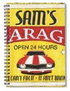 Sam's Garage Spiral Notebook