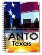 San Antonio Tx Patriotic Large Cityscape Spiral Notebook