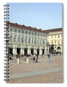 San Carlo Square In Turin Spiral Notebook