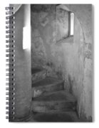 San Christobal Staircase- Black And White Spiral Notebook