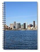 San Diego Ca Harbor Skyline Spiral Notebook
