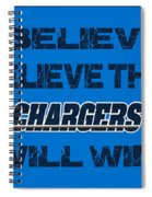 San Diego Chargers I Believe Spiral Notebook