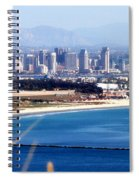 San Diego From Point Loma By Diana Sainz Spiral Notebook