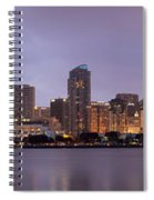 San Diego Skyline At Dusk Panoramic Spiral Notebook